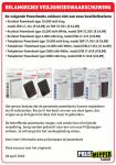 Advertentie terugroepactie powerbanks Prijsmepper