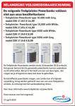 Advertentie terugroepactie Trekpleister Powerbanks