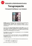 Advertentie terugroepactie TK Maxx drinkflessen voor kinderen