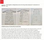 Advertentie terugroepactie HEMA Babyslaapzak 4 Seizoenen (2-in-1)