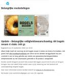Terugroepactie AH Bagels met sesamzaad (Update)