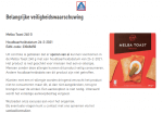 Advertentie allergenenwaarschuwing Backers Melba Toast (ALDI)