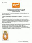 Advertentie allergenenwaarschuwing COOP Rookworst Fijn