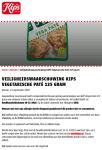 Advertentie allergenenwaarschuwing Kips Vegetarische Paté