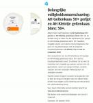 Advertentie terugroepactie Albert Heijn AH Geitenkaas