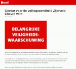 Advertentie terugroepactie Zijerveld Chevre Vers (Boni)