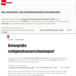Advertentie terugroepactie Gemengd Gehakt Stroganoff Dirk en DekaMarkt