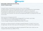 Advertentie terugroepactie Hoogvliet afbakbroodjes Dutch Bakery en g'woon