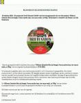 Advertentie terugroepactie Lidl Milbona Brie de Nangis oktober 2020