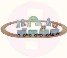 Belangrijke veiligheidswaarschuwing Little Dutch houten treinset
