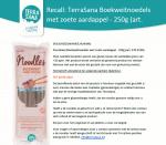 Advertentie allergenenwaarschuwing TerraSana Boekweitnoedels Zoete Aardappel