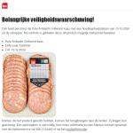 Advertentie terugroepactie Dirk Grillworst Kaas