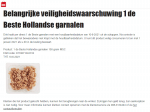 Advertentie belangrijke veiligheidswaarschuwing 1 de Beste Hollandse Garnalen Dirk