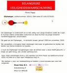 Advertentie terugroepactie Primi Passi Cliphanger
