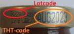 THT datum en lotcode op deksel Struik Krachtbouillon Tomaat