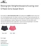 Terugroepactie O'Neill Girls Sweat Short