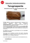 Advertentie terugroepactie leren dameshandschoenen TK Maxx