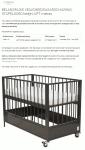 Advertentie veiligheidswaarschuwing Stapelgoed bedje LOFT matras
