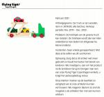 Advertentie terugroepactie houten speelgoed auto-oplegger Flying Tiger Copenhagen