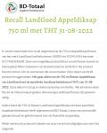 Advertentie terugroepactie LandGoed Appeldiksap