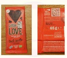Allergenenwaarschuwing Lovechock Little Love Dark Vanilla chocoladerepen