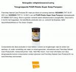 Advertentie terugroepactie PUUR Rineke Super Pompoen Soep