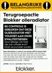 Advertentie terugroepactie Blokker olieradiator