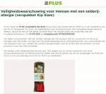 Advertentie allergenenwaarschuwing PLUS Verspakket Kip Siam