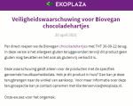 Advertentie allergenenwaarschuwing Biovegan chocoladehartjes