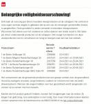 Advertentie terugroepactie Dirk vleesproducten