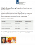 Advertentie allergenenwaarschuwing 1-kop Tomatencrèmesoep G'woon, 1 de Beste, PLUS