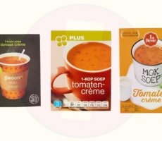 Allergenenwaarschuwing 1-kop Tomatencrèmesoep G'woon, 1 de Beste, PLUS