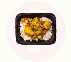 Allergenenwaarschuwing DEEN zoete aardappelcurry met linzen