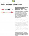 Advertentie terugroepactie IKEA borden schalen en bekers HEROISK en TALRIKA