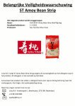 Advertentie allergenenwaarschuwing Sau Tao Amoy Bean Strip