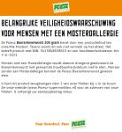 Advertentie allergenenwaarschuwing Poiesz Boerenleverworst
