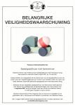 Advertentie terugroepactie Søstrene Grene speelgoedtruck met betonmixer