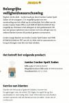 Advertentie allergenenwaarschuwing Jumbo Cracker Spelt Zaden