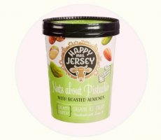 Allergenenwaarschuwing Happy Mrs. Jersey Nuts about pistachio ijs